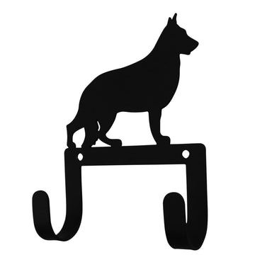 Wrought Iron Shephard Dog Leash & Collar Wall Hook dog hook dog key rack dog leash hook key rack new
