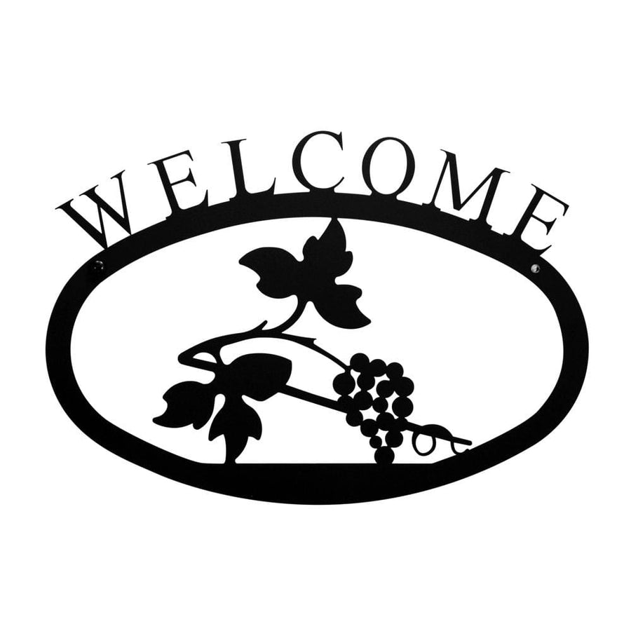 Wrought Iron Small Grapevine Welcome Home Sign Small door signs outdoor signs welcome home sign