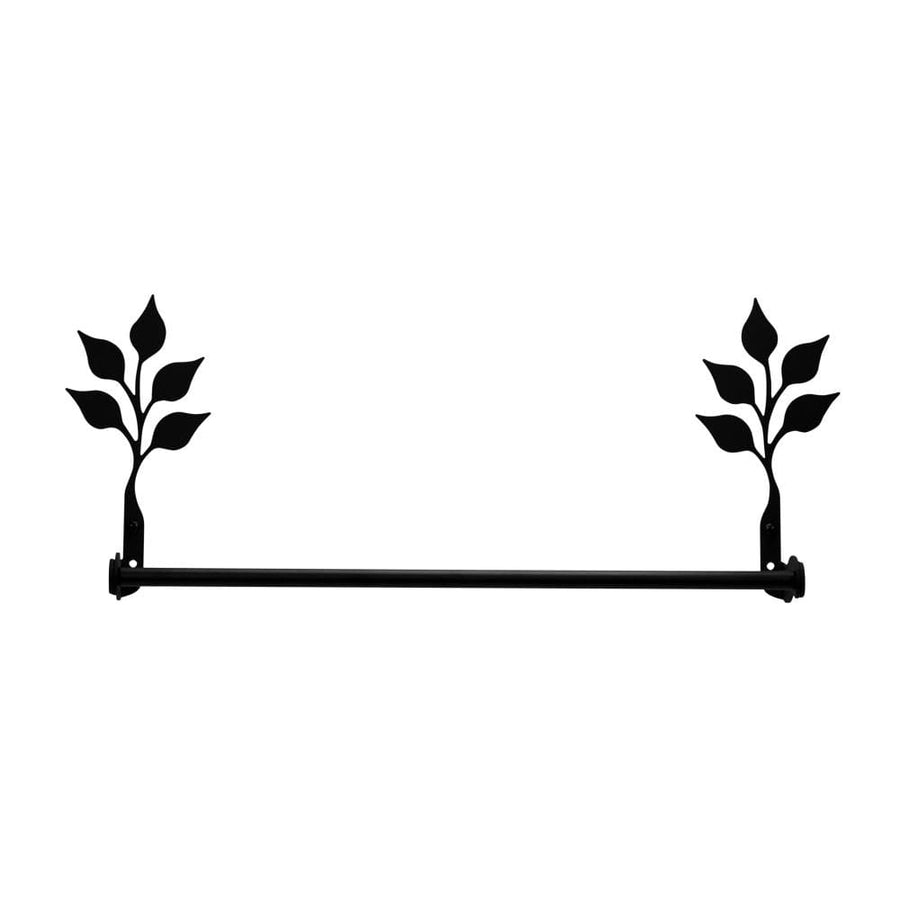 Wrought Iron Small Leaf Towel Rail Towel Rack bathroom towel rails black wrought iron outdoor towel