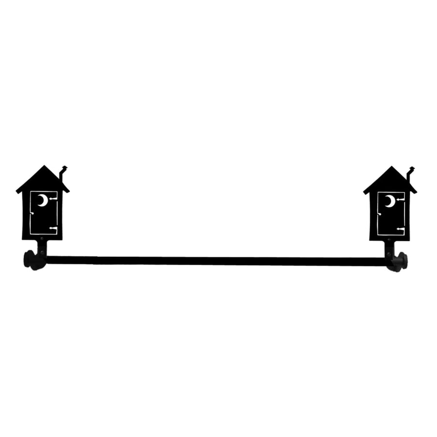 Wrought Iron Small Outhouse Towel Rail Towel Rack bathroom towel rails black wrought iron outdoor