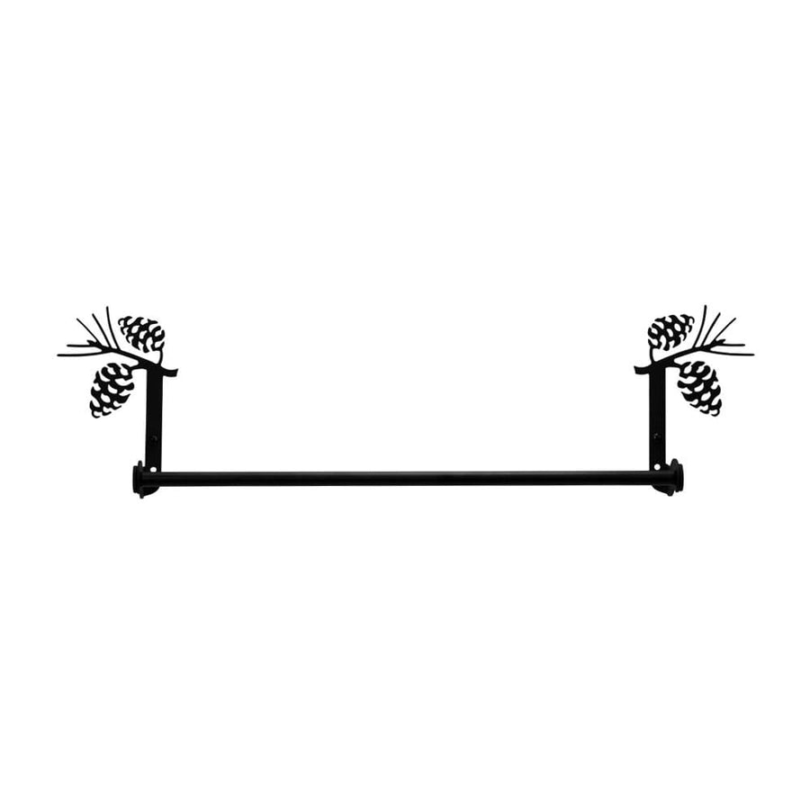 Wrought Iron Small Pine Cone Towel Rail Towel Rack bathroom towel rails black wrought iron outdoor