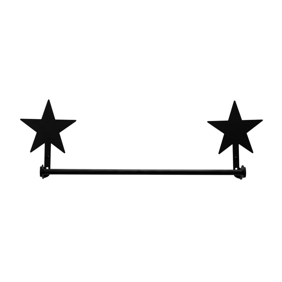Wrought Iron Small Star Towel Rail Towel Rack bathroom towel rails black wrought iron outdoor towel