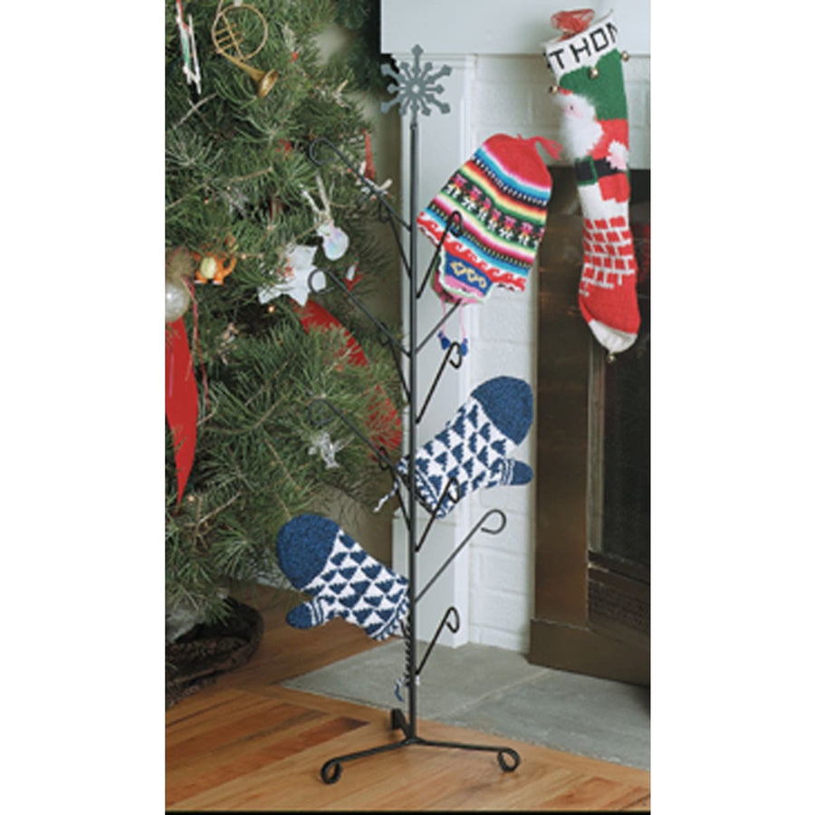 Wrought Iron Snowflake Top 8 Pair Mitten & Boot Dryer Stand boot rack boot stand Christmas