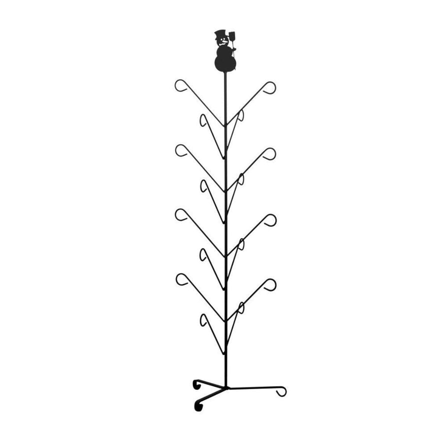 Wrought Iron Snowman Top 8 Pair Mitten & Boot Dryer Stand boot rack boot stand Christmas decorations