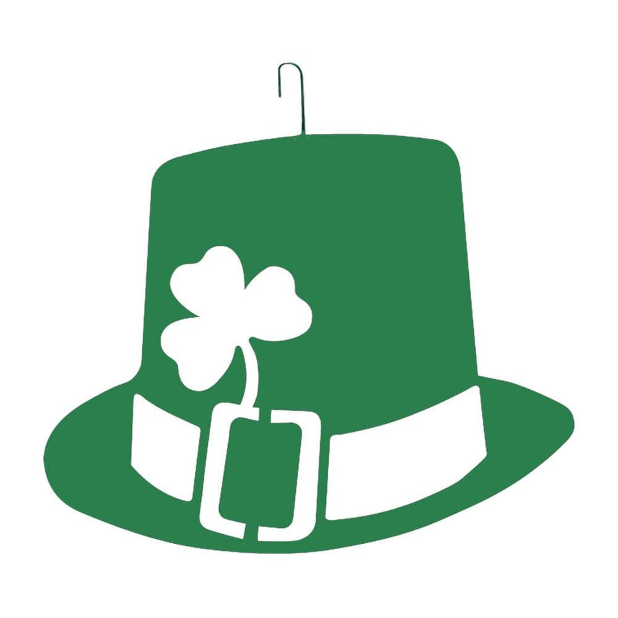 Wrought Iron St. Patricks Day Hat Green Hanging Silhouette hanging silhouette metal st patricks day