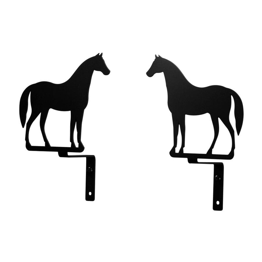 Wrought Iron Standing Horse Curtain Swag Set curtain hardware curtain holdbacks curtain swags swag