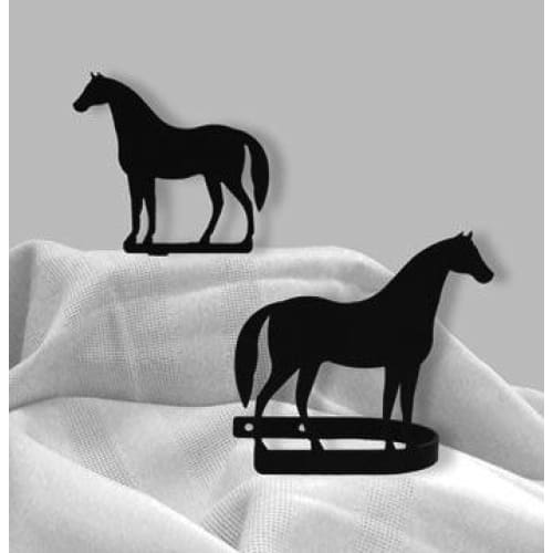 Wrought Iron Standing Horse Curtain Tie Back Set curtain accessories curtain holdbacks curtain tie
