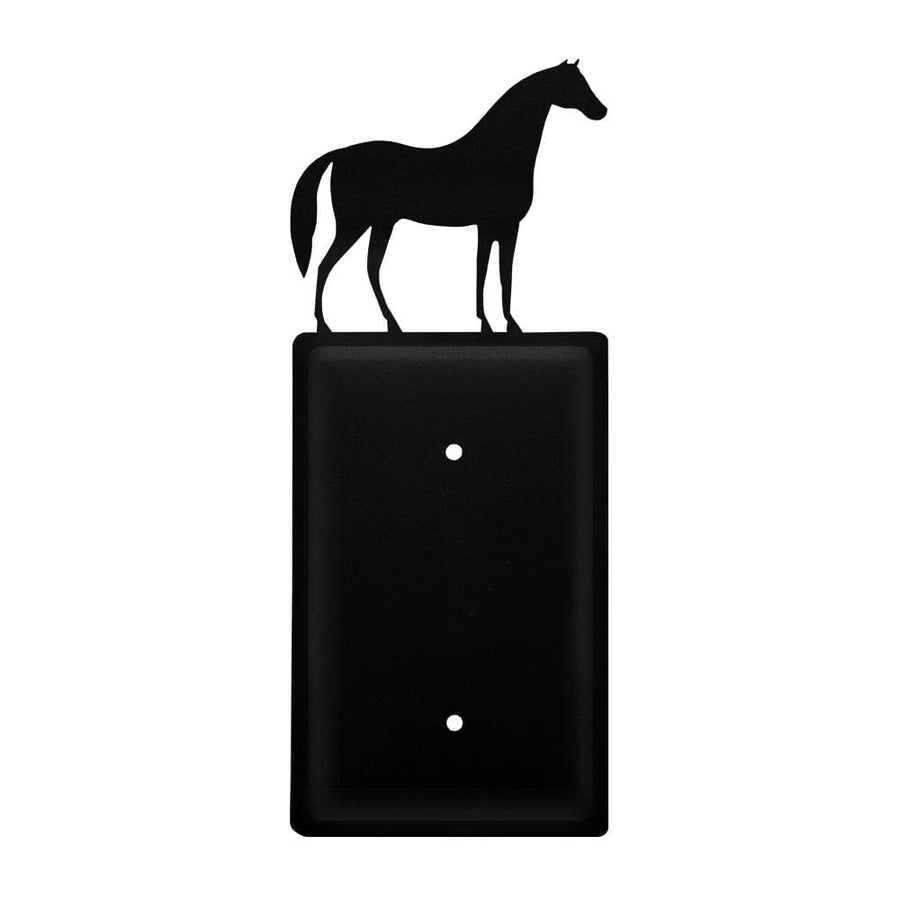 Wrought Iron Standing Horse Single Blank Cover light switch covers lightswitch covers outlet cover
