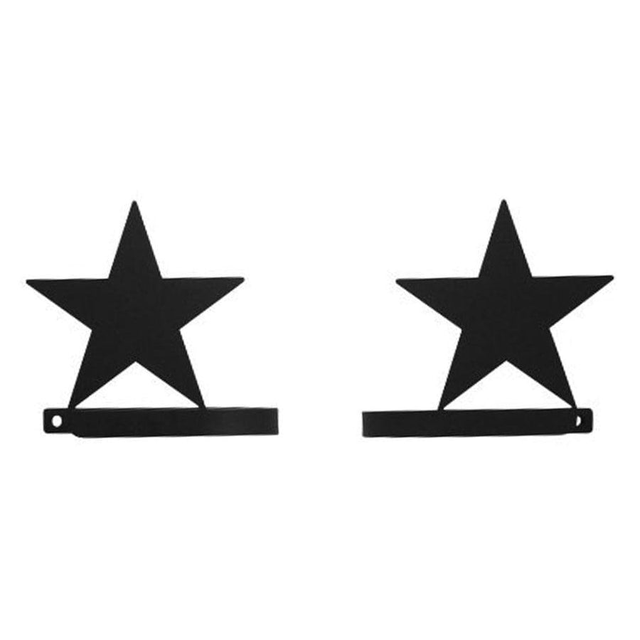 Wrought Iron Star Curtain Tie Back Set curtain accessories curtain holdbacks curtain tie backs hold