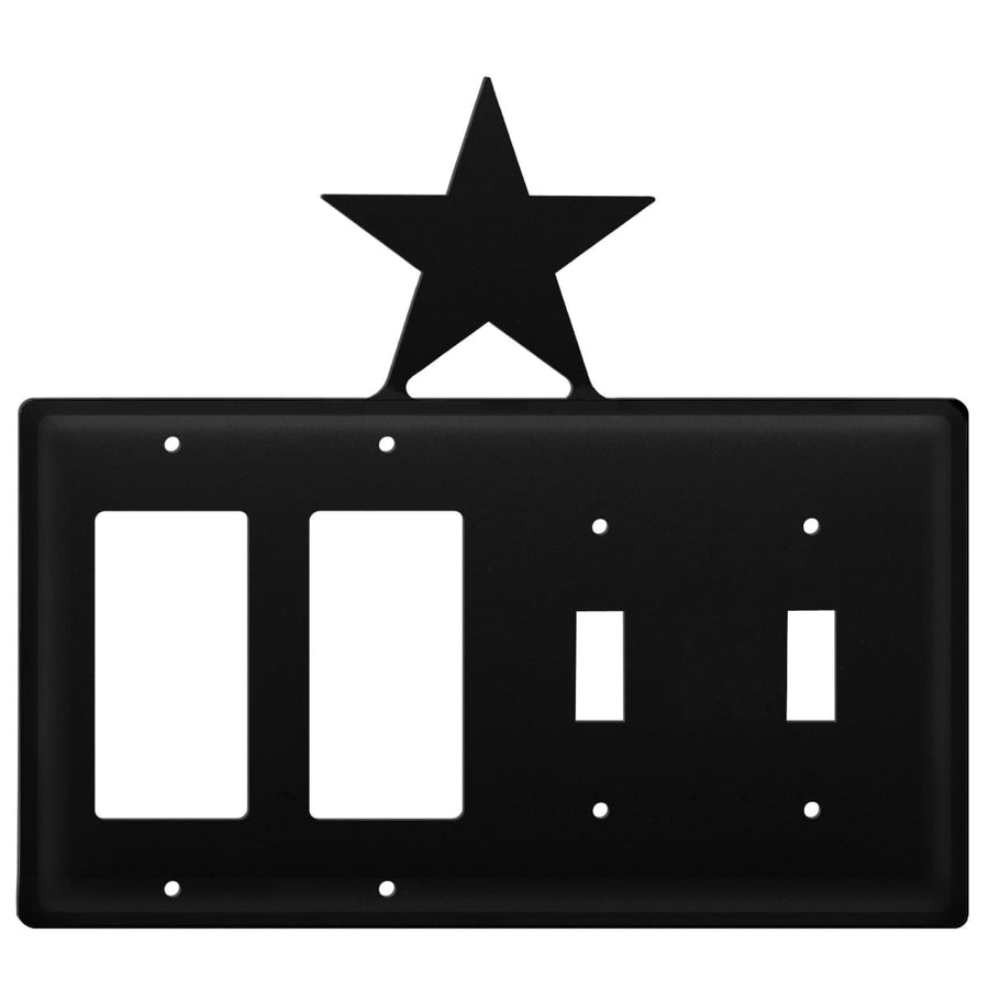 Wrought Iron Star Double GFCI Double Switch Cover light switch covers lightswitch covers outlet