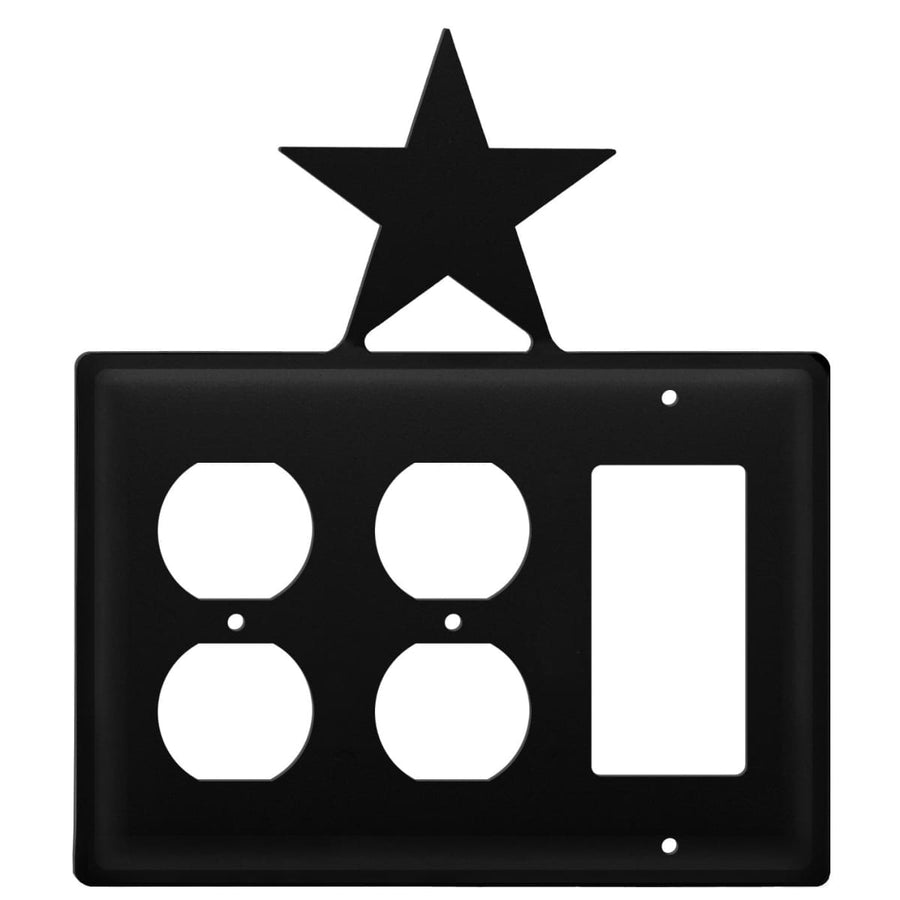 Wrought Iron Star Double Outlet GFCI Cover light switch covers lightswitch covers outlet cover