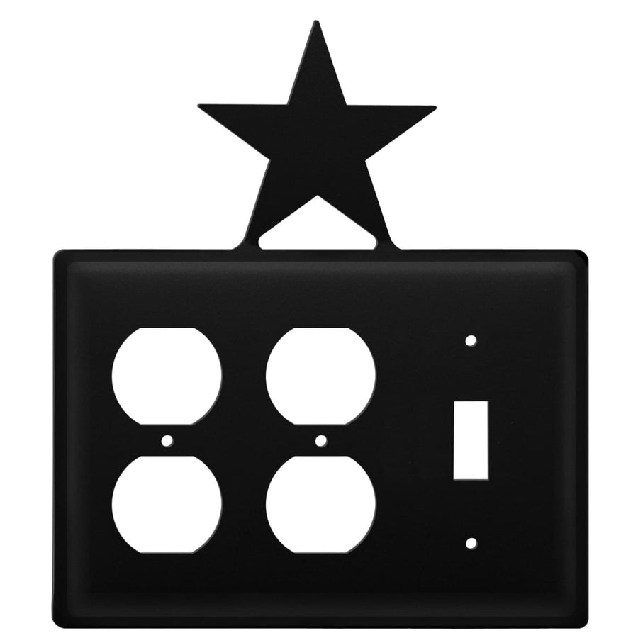 Wrought Iron Star Double Outlet Switch Cover light switch covers lightswitch covers outlet cover