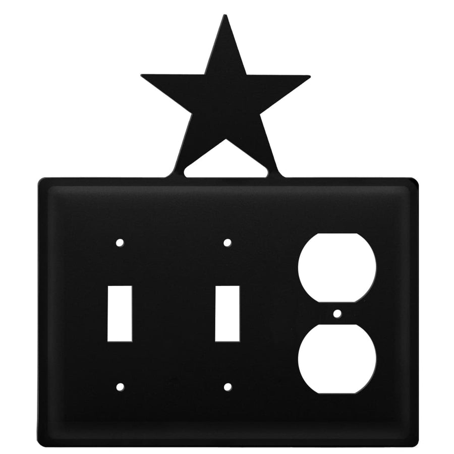 Wrought Iron Star Double Switch Outlet Cover light switch covers lightswitch covers outlet cover