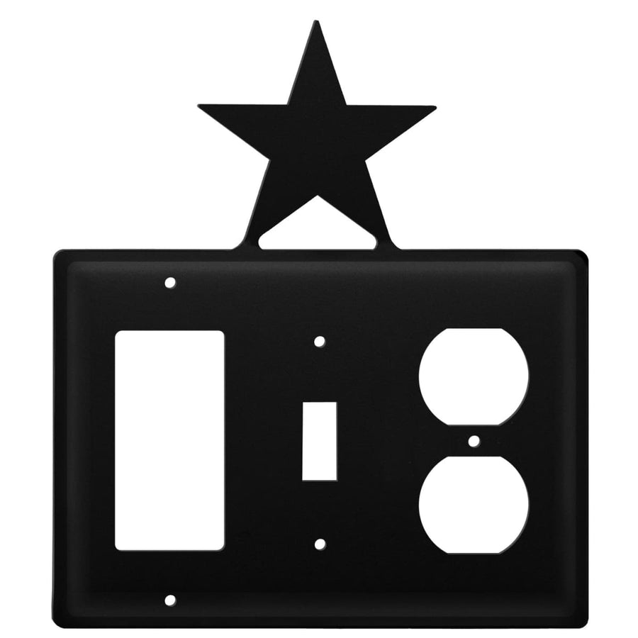 Wrought Iron Star GFCI Switch Outlet Cover light switch covers lightswitch covers outlet cover