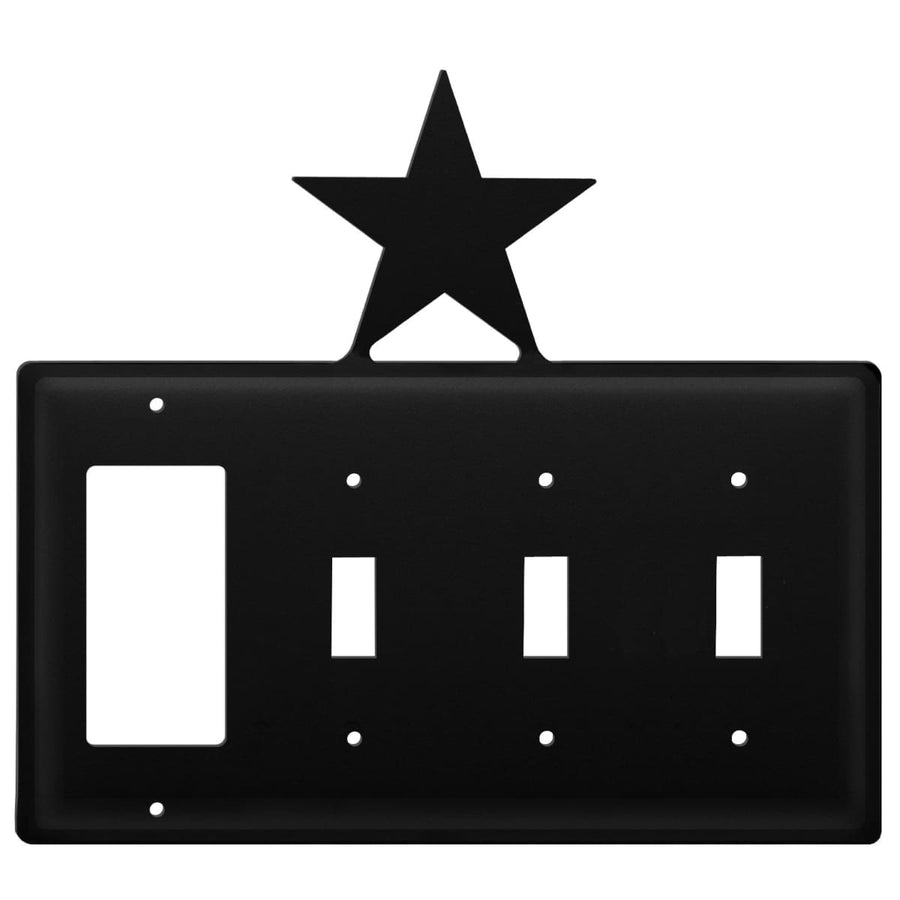 Wrought Iron Star GFCI Triple Switch Cover light switch covers lightswitch covers outlet cover