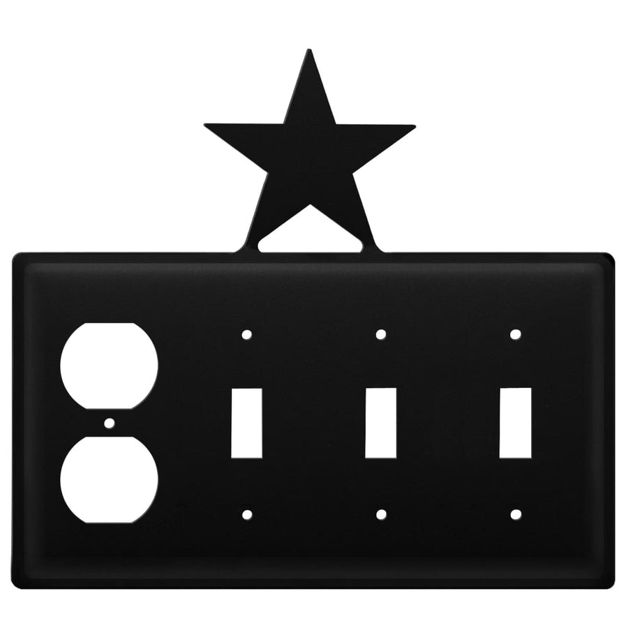 Wrought Iron Star Outlet Triple Switch Cover light switch covers lightswitch covers outlet cover