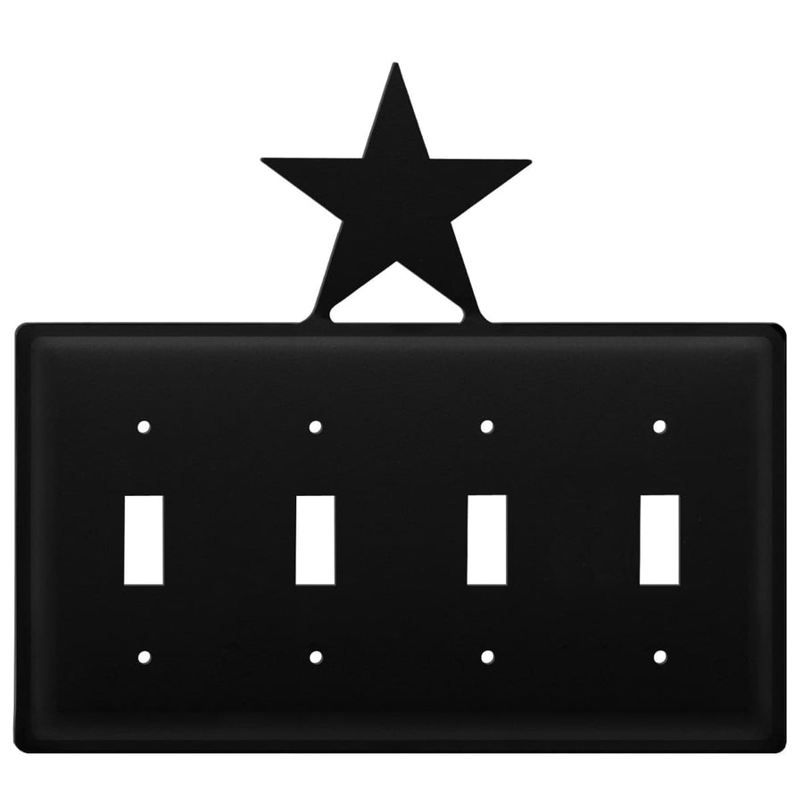 Wrought Iron Star Quad Switch Cover light switch covers lightswitch covers outlet cover switch