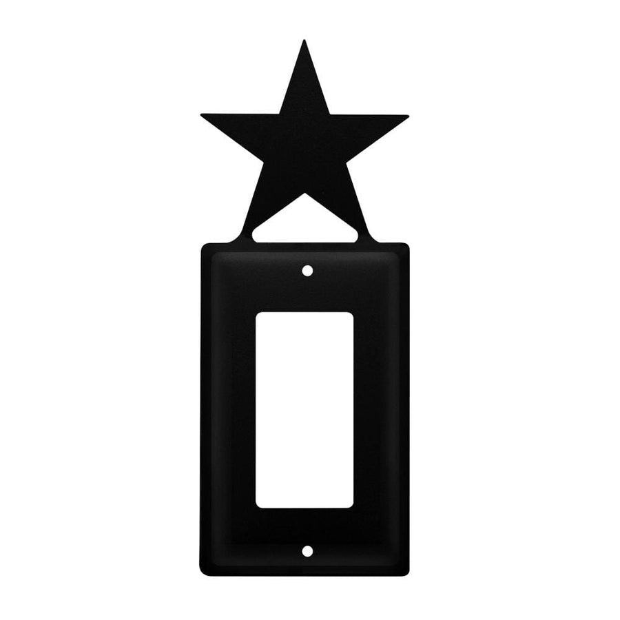 Wrought Iron Star Single GFCI Cover light switch covers lightswitch covers outlet cover switch
