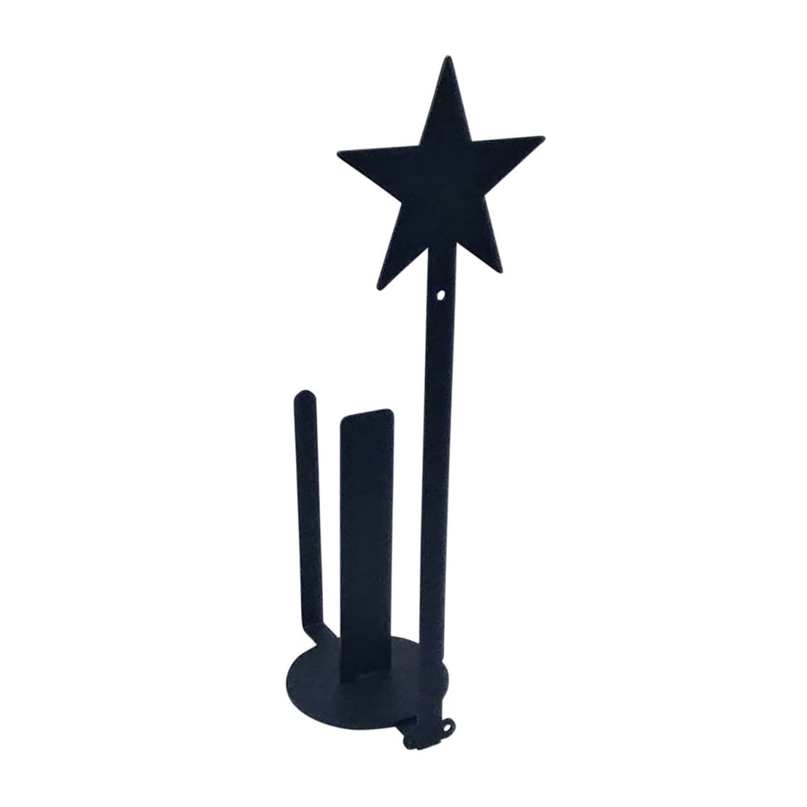 Wrought Iron Star Vertical Wall Paper Towel Holder kitchen towel holder paper towel dispenser paper