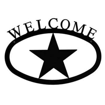 Wrought Iron Star Welcome Home Sign Large door signs outdoor signs welcome home sign welcome home