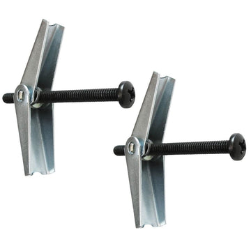 Wrought Iron Toggle Bolt 2in - Set of 2 black screw bolt secure toggle wall