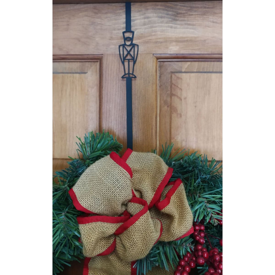 Wrought Iron Toy Soldier Door Wreath Hanger Christmas decorations christmas wreath stand door