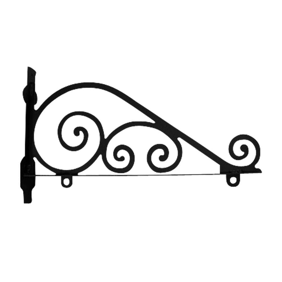 Wrought Iron Traditional Sign Post Bracket 36in decorative posts featured metal sign post pole sign