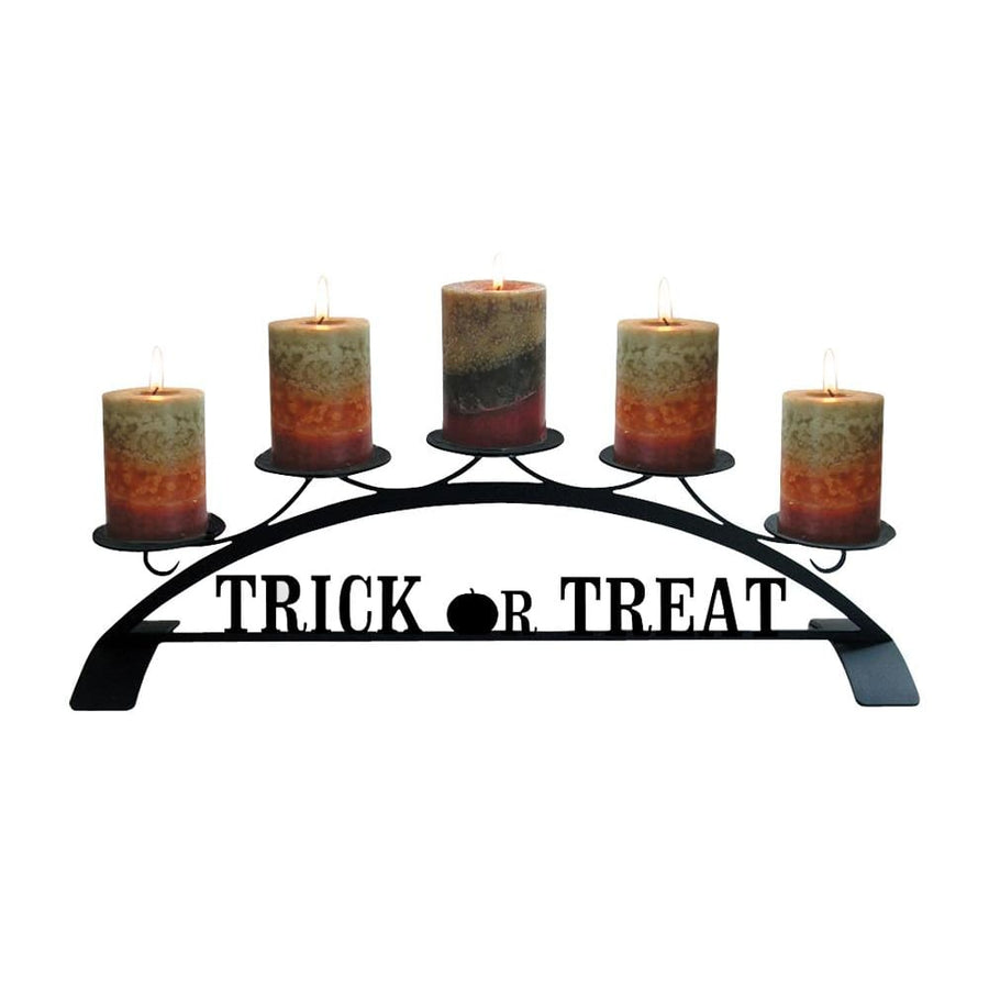 Wrought Iron Trick Or Treat Table Top Center Piece Candle Holder Autumn Decorations candle holder