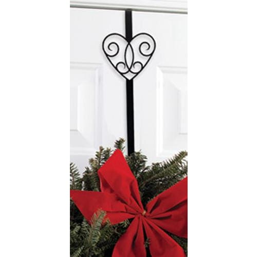 Wrought Iron Victorian Heart Door Wreath Hanger Christmas decorations christmas wreath stand door