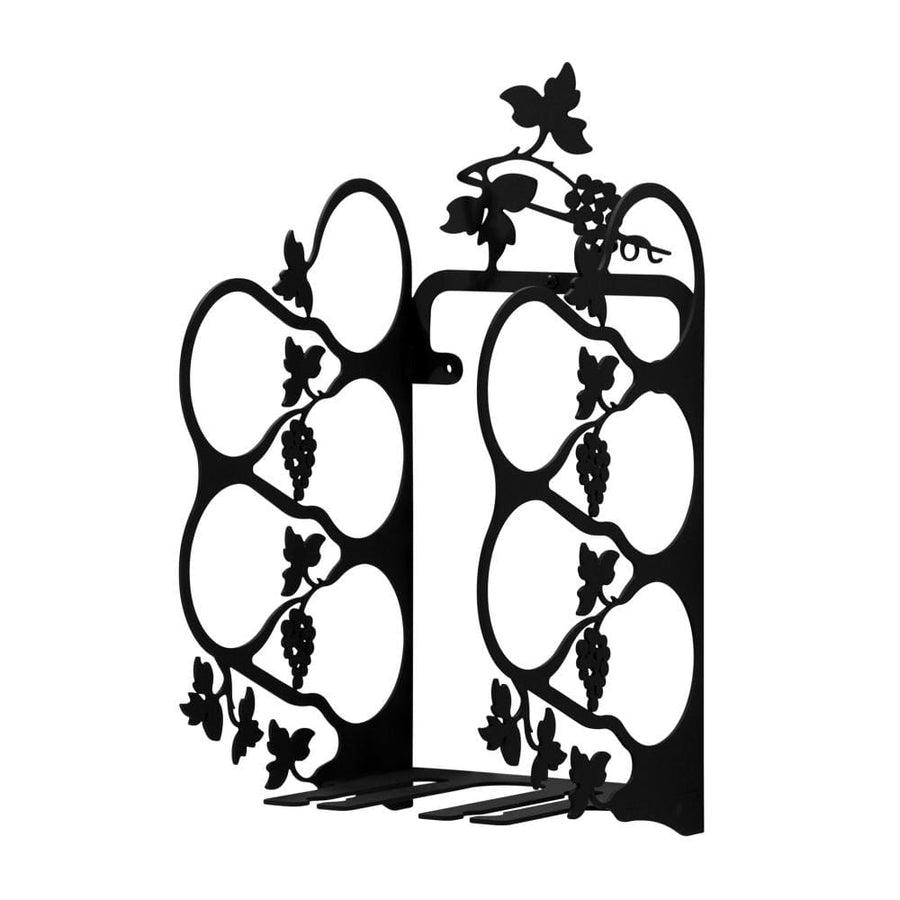 Wrought Iron Wall Mount Grapevine Wine Rack Med wine bottle and glass holder wine bottle holder wine
