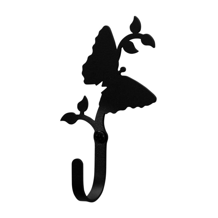 Wrought Iron XSmall Butterfly Wall Hook Decorative Xsmall butterfly hook Butterfly Wall Hook coat