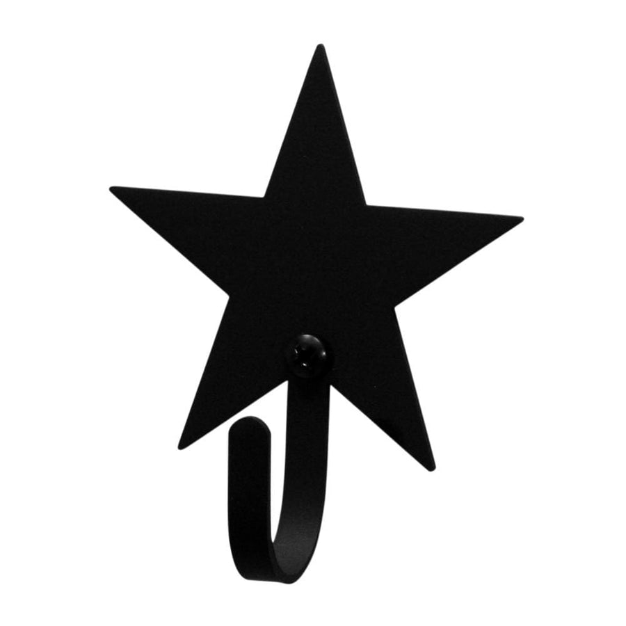 Wrought Iron XSmall Star Wall Hook Decorative Xsmall coat hooks door hooks hook star hook Star Wall