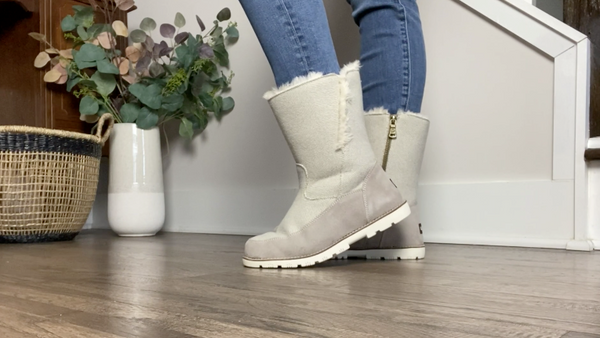 Winter Self Care featuring the Brighton Boot with Bourbon Blonde - Lamo Footwear