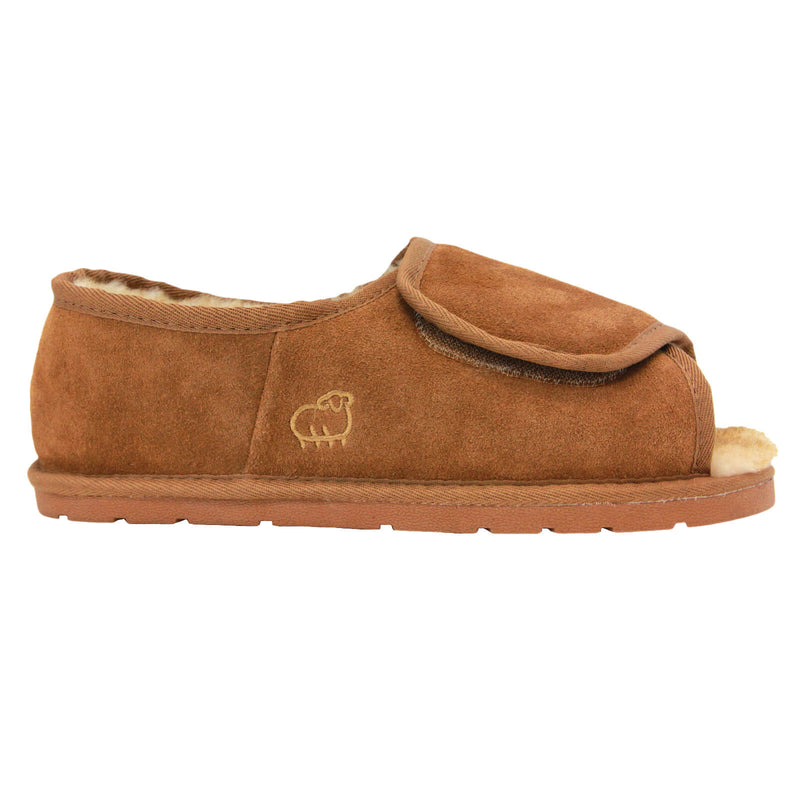 Men's Open Toe Wrap - Chestnut / S - Lamo Footwear