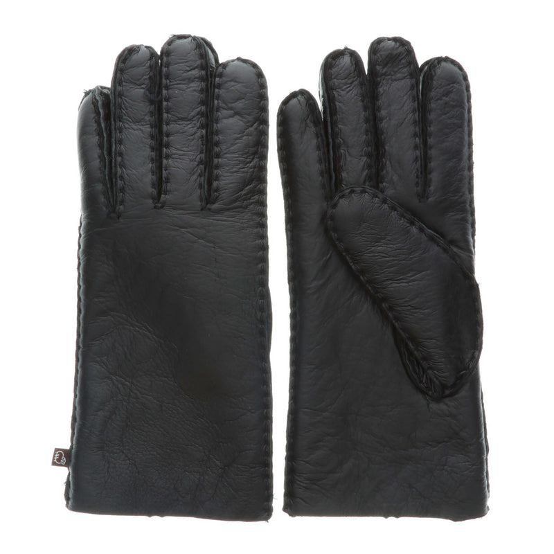 Women's Premium Australian Sheepskin Gloves - S / Black - Lamo Footwear