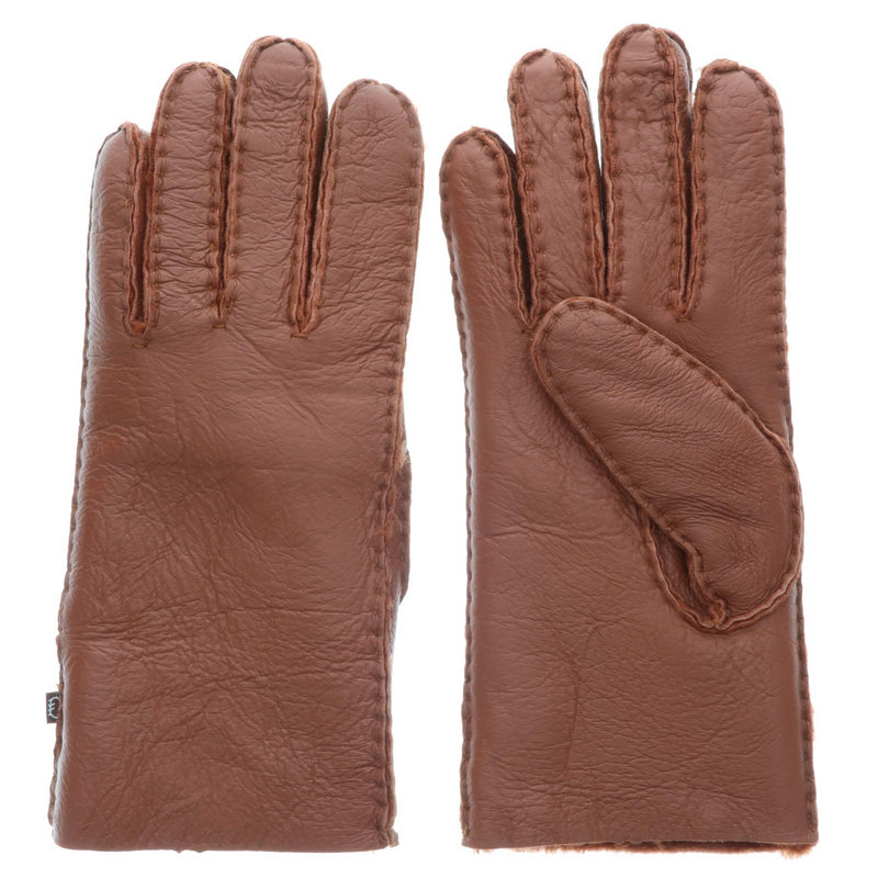 Women's Premium Australian Sheepskin Gloves - S / Rust - Lamo Footwear