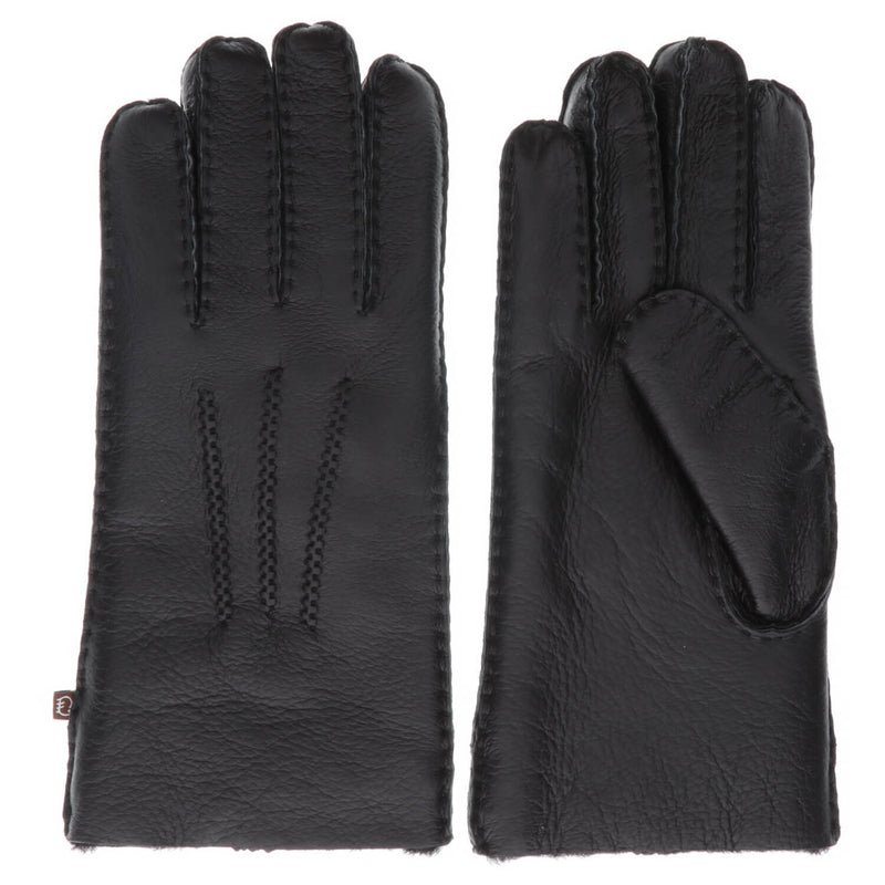 Men's Premium Australian Sheepskin Gloves - M / Black - Lamo Footwear