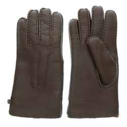 Men's Premium Australian Sheepskin Gloves - M / Brown - Lamo Footwear
