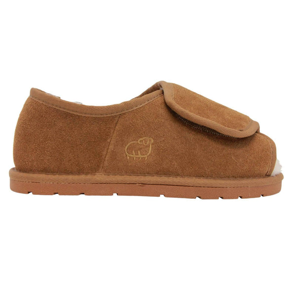 Lady's Open Toe with Heel Wrap WIDE - Outlet - Chestnut / S - Lamo Footwear