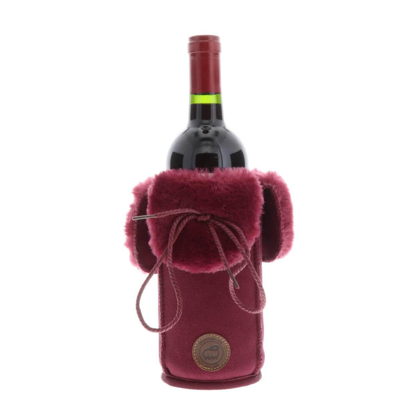 Sheepskin Wine Coozies