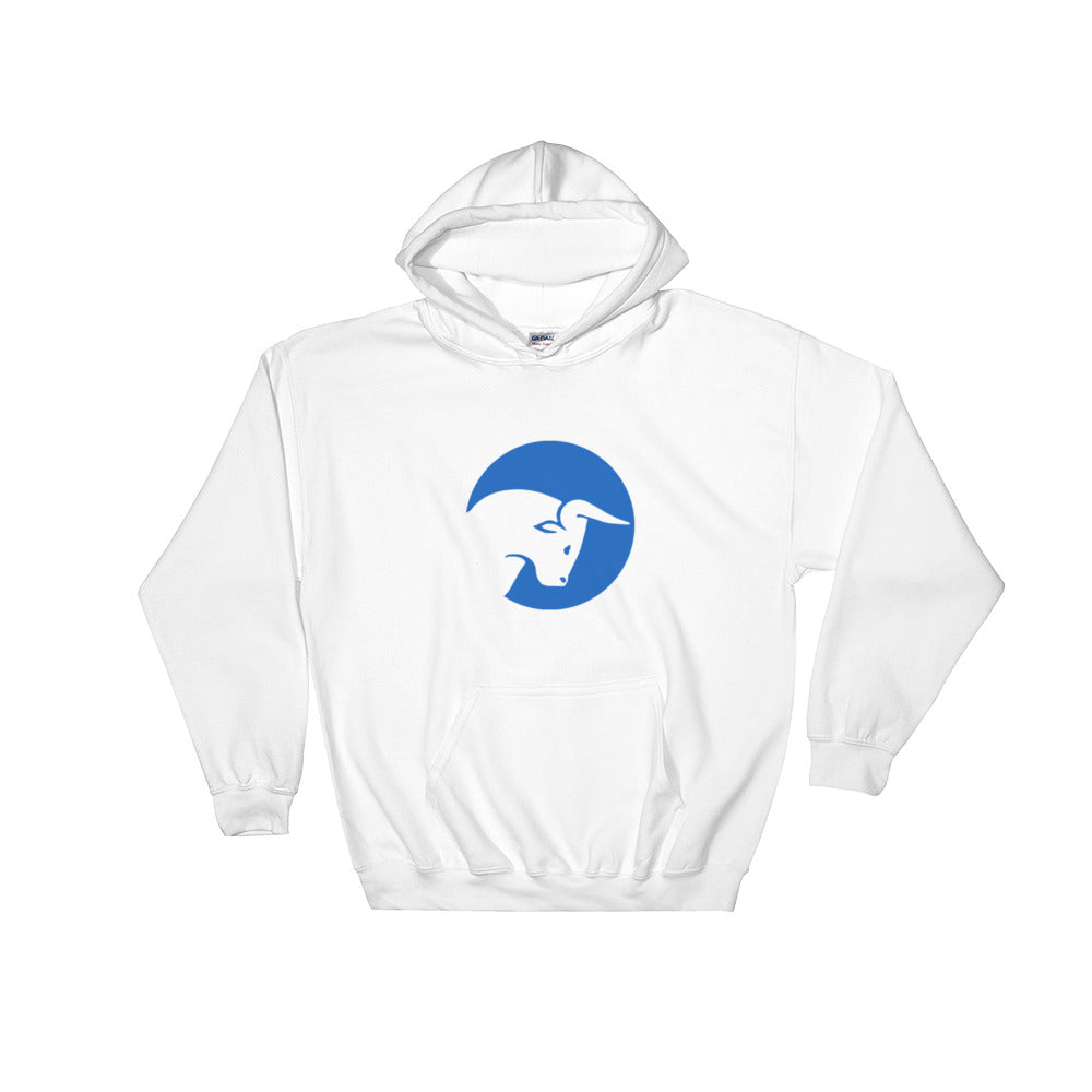 Live Traders White Hooded Sweatshirt