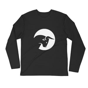 Live Traders Bull Black Long Sleeve Fitted Crew
