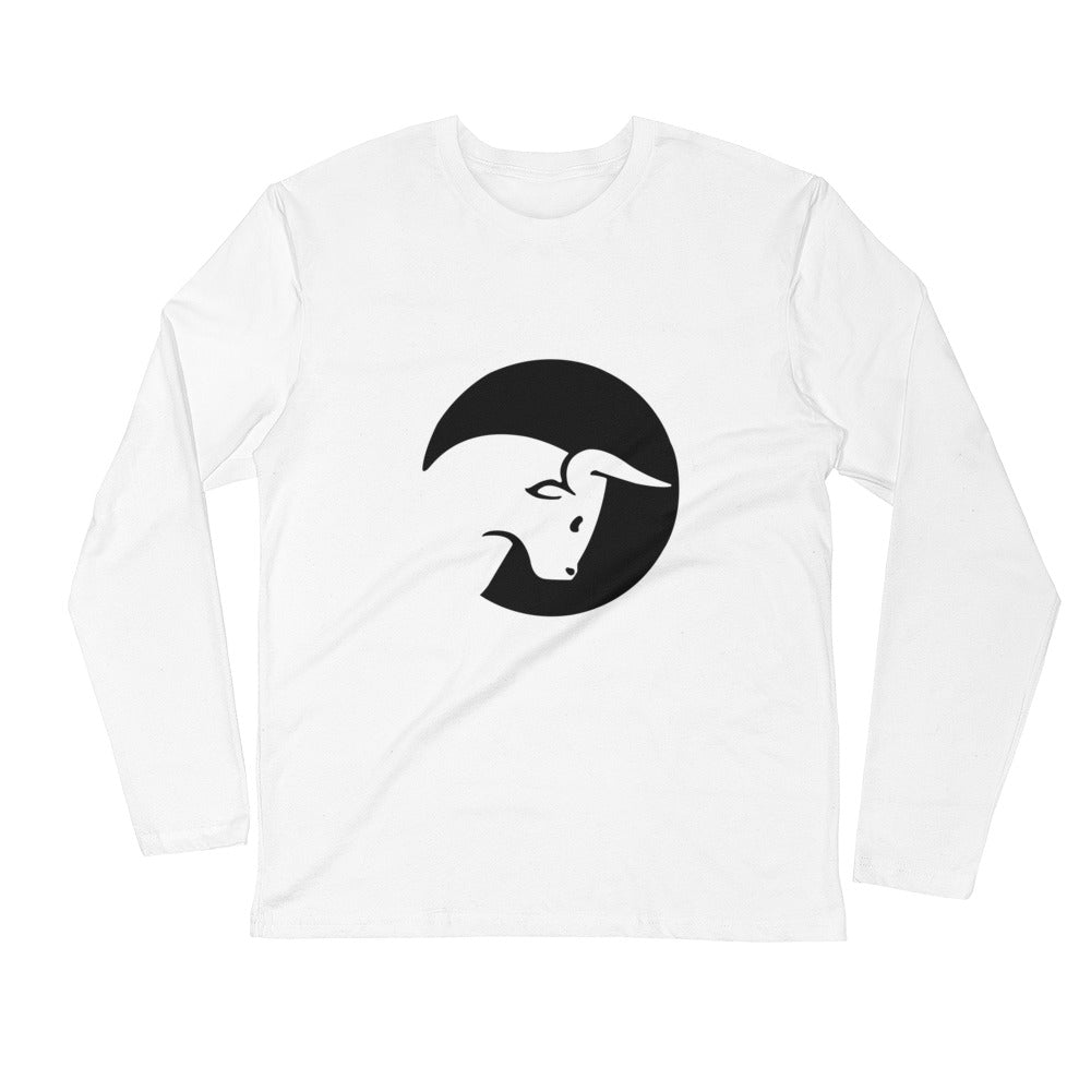 Pipin' Ain't Easy - White Long Sleeve Fitted Crew