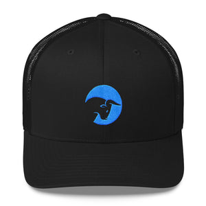 Black blue bull hat