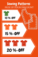 PICK UP YOUR DISCOUNT for Sewing Patterns