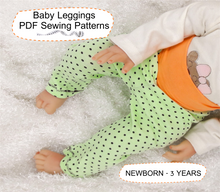 Leggings Baby Sewing Patterns for Girl and Boy Sizes NEWBORN - 3 YEARS