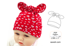 Flared Baby Pants Sewing Patterns,  Baby Hat Sewing Patterns, Sizes 0 Month-6 YEARS