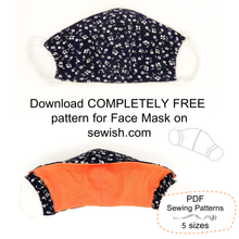 Sewing Pattern for Face Mask. Completely free Sewing Pattern