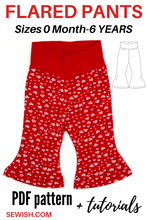 baby flared pants sewing patterns pdf, sewing pattern for boy, sewing pattern for girl