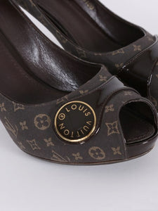 Louis Vuitton Judy Open Toe Pump in Monogram Idylle - Size 38